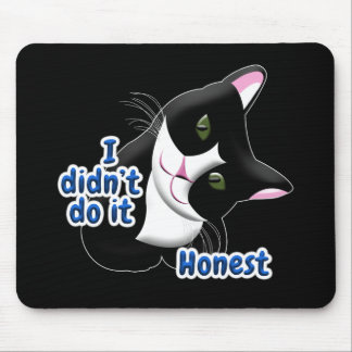 I didn't do it Cat Mouse Pad