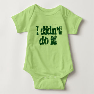 I didn't do it!  Twin set (Part 1 of 2) Baby Bodysuit
