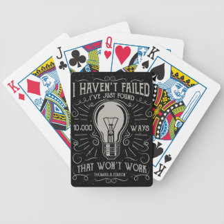 I didn't fail I just found ways that didn't work Bicycle Playing Cards
