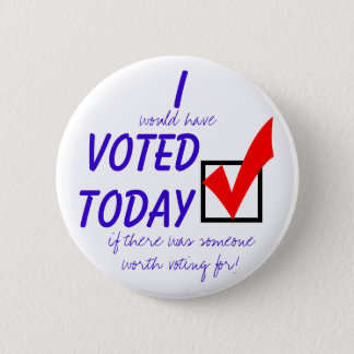 I didn't vote today button