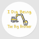 i dig big brother classic round sticker