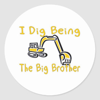 i dig big brother round stickers