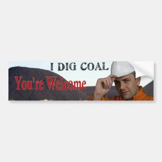 I Dig Coal Bumper Sticker