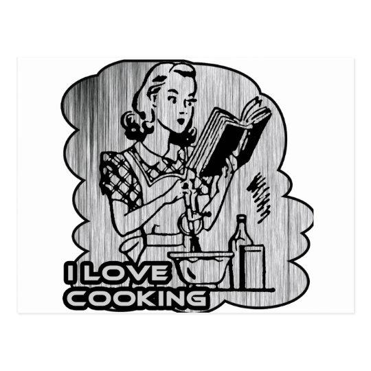 I Dig Cooking Garnish Postcard