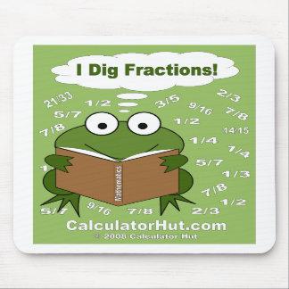 I Dig Fractions Math Mousepad