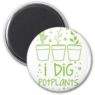 i dig potplants 2 inch round magnet