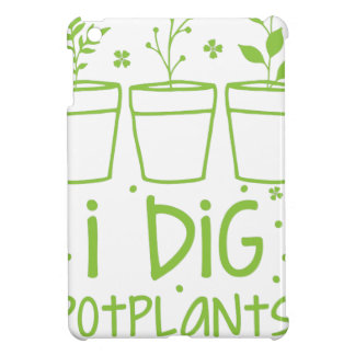 i dig potplants iPad mini case