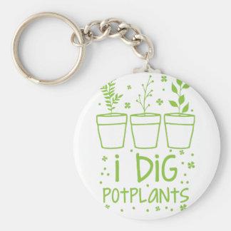 i dig potplants keychain