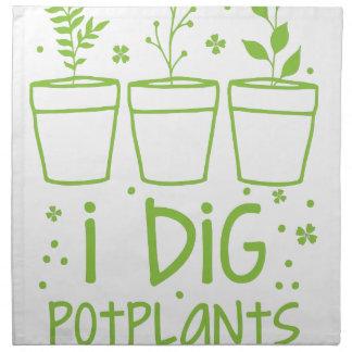 i dig potplants napkin