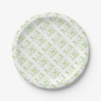 i dig potplants paper plate