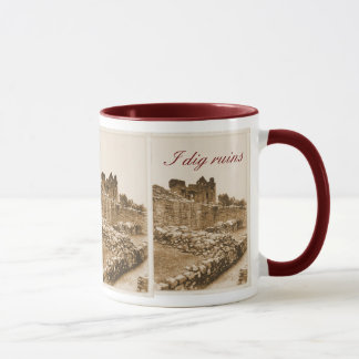 I dig ruins mug
