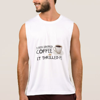 """""""I Discovered Coffee"""" Men's Performance Tank Top"""
