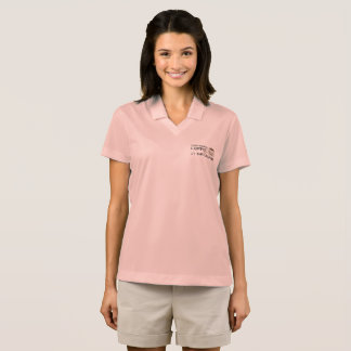 """I Discovered Coffee"" Women's NIKE Dri-Fit Polo Shirt"