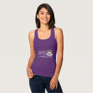 """I Discovered Coffee"" Women's Racerback Tank"