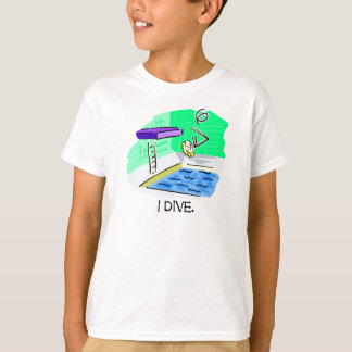 I Dive High Diving Board Stick Figure T-shirts