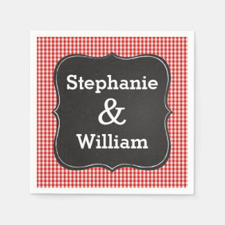 I Do BBQ Couples Barbeque Shower Paper Napkins