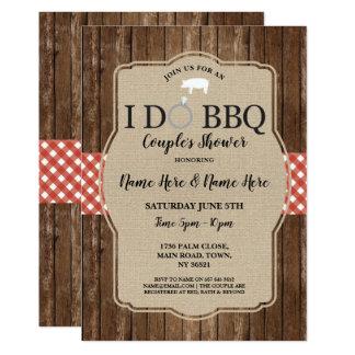 I DO BBQ Couple's Shower Engagement Pig Invite