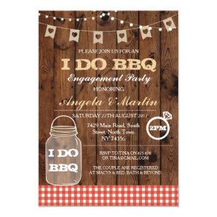 274a660a4da I DO BBQ Engagement Party Couples Shower Invite