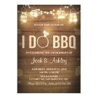 I Do BBQ Engagement Party Couples shower Rustic Card