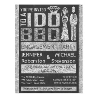I Do | BBQ | Engagement Party Postcard