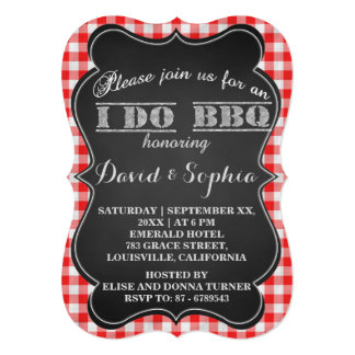 I DO BBQ Rustic Engagement Party Card