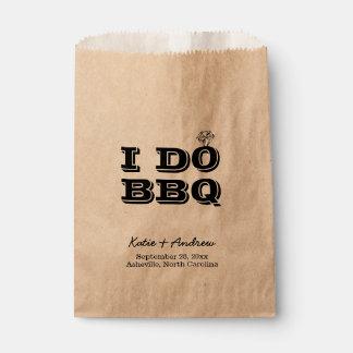 I Do BBQ Wedding Favor or Utensil Holder Favour Bag