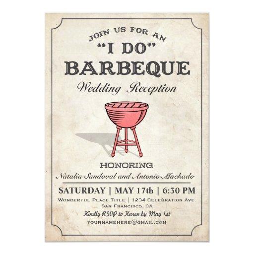 Bbq Wedding Reception Ideas: I DO BBQ Wedding Reception Invitations