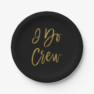 I Do Crew Faux Gold Foil and Black Plates