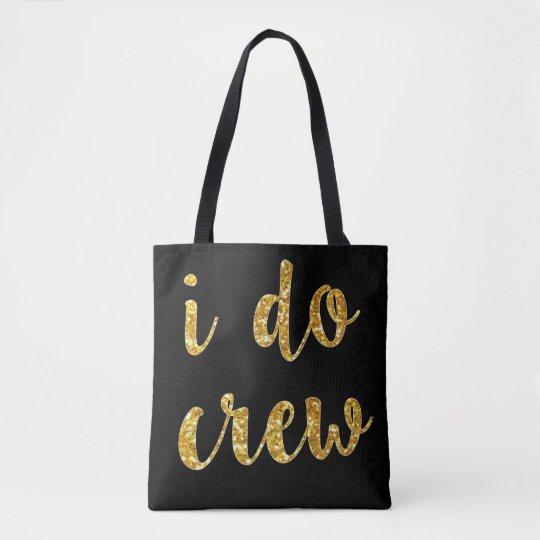 I do crew gold glitter bridesmaid bags