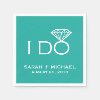 I Do Diamond | Wedding Paper Napkin