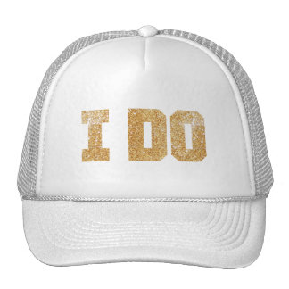 I Do Gold Bride Bachelorette Hat