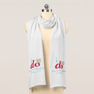 I DO Harry and Meghan Royal Wedding Long Scarf