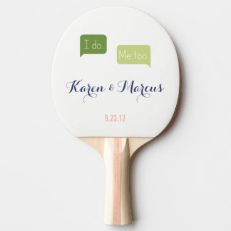 I do. Me too. Speech Bubble Cute Wedding Paddle