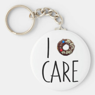 i do not care don't donut funny text message dough keychain