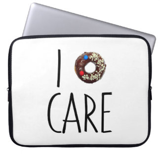 i do not care don't donut funny text message dough laptop sleeve