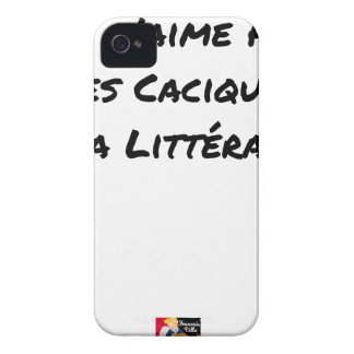 I DO NOT LOVE THE CACIQUES OF THE LITERATURE iPhone 4 CASE