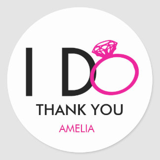 I-DO PARTY FAVORS CLASSIC ROUND STICKER
