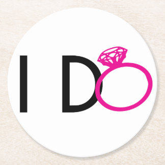 I-DO PARTY FAVORS ROUND PAPER COASTER