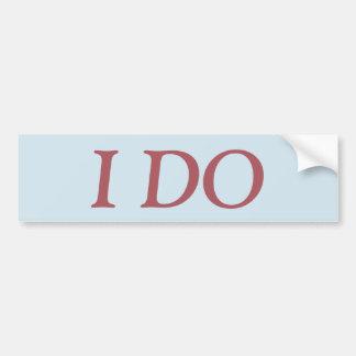 I DO sticker