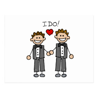 I Do Two grooms Postcard