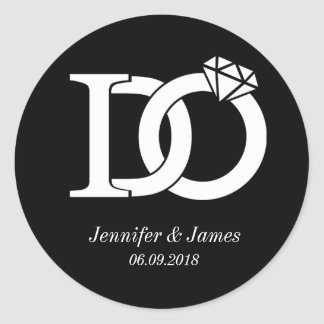 I DO wedding theme wedding sticker stickers
