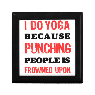 I Do Yoga Because Punching People Is Frowned Upon. Gift Box