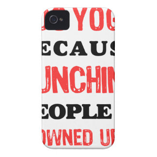 I Do Yoga Because Punching People Is Frowned Upon. iPhone 4 Cases