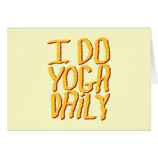 I Do Yoga Daily. Yellow. Card