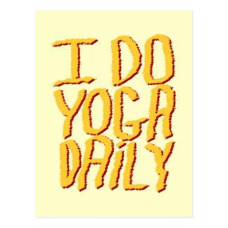 I Do Yoga Daily. Yellow. Postcard