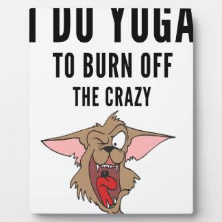 I Do Yoga To Burn Of The Crazy(2) Plaque
