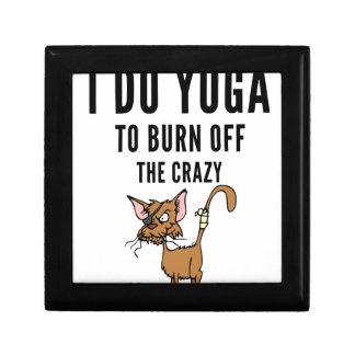 I Do Yoga To Burn Of The Crazy Gift Box