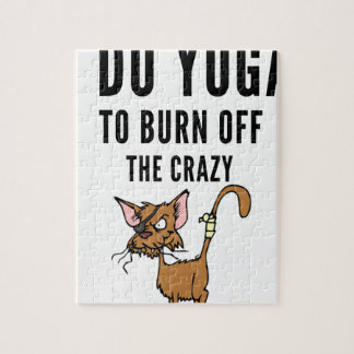I Do Yoga To Burn Of The Crazy Jigsaw Puzzle