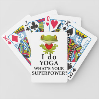i do yoga what s your super power bicycle playing cards