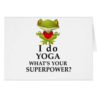 i do yoga what s your super power card